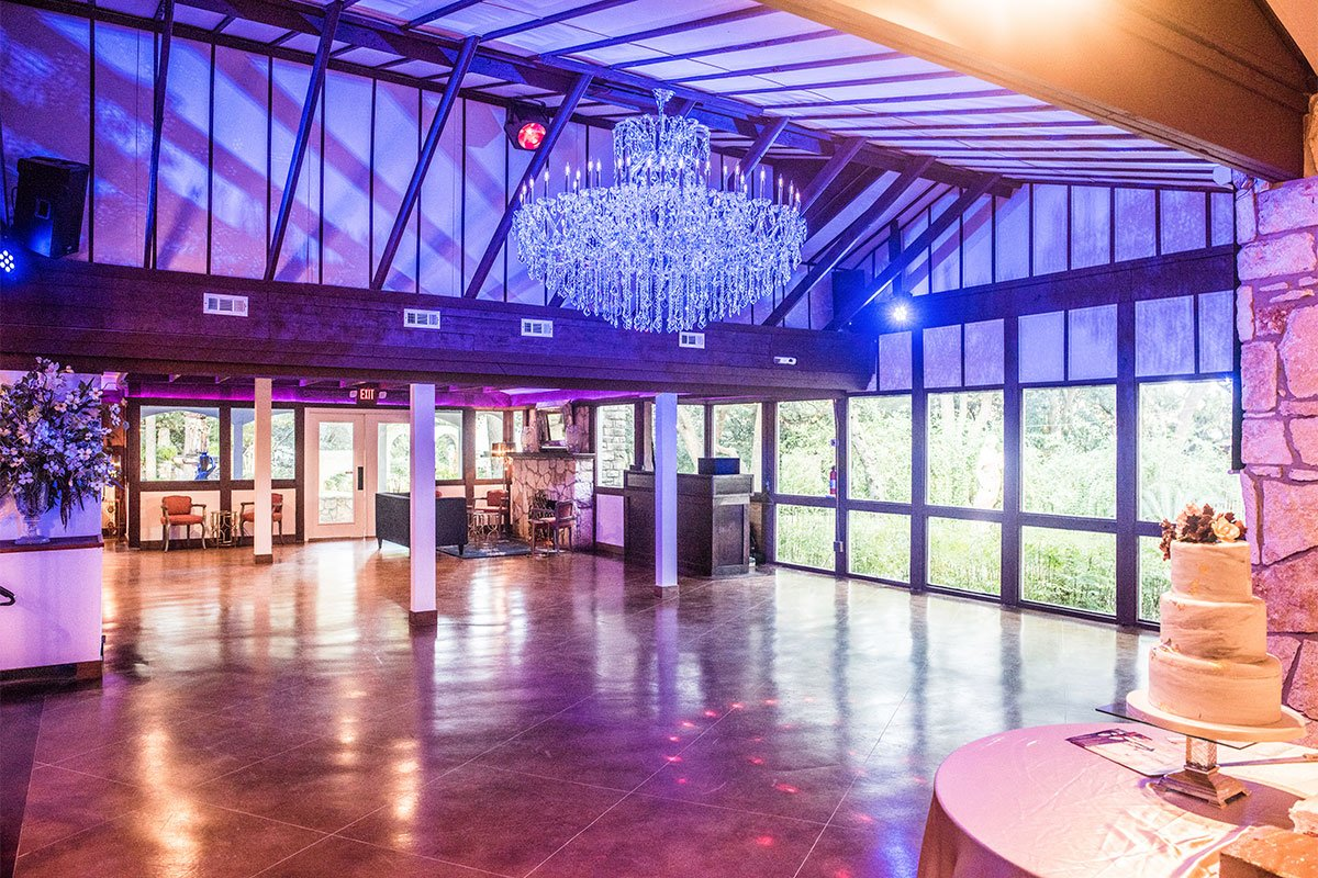 The Chandelier Chateau is an incredible reception room for dancing at The Vista on Seward Hill