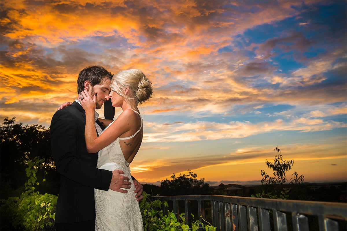 Incredible Sunset weddings at The Vista on Seward Hill